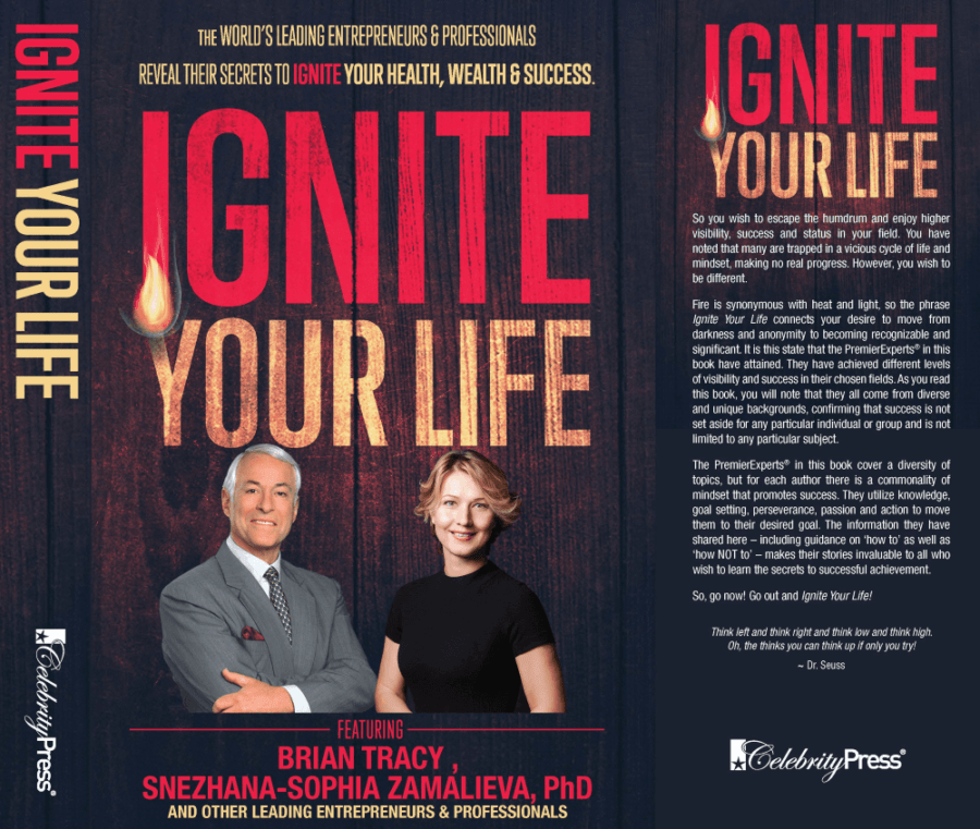 На фото – обложка книги Снежаны Замалиевой и Брайана Трейси «Ignite Your Life»